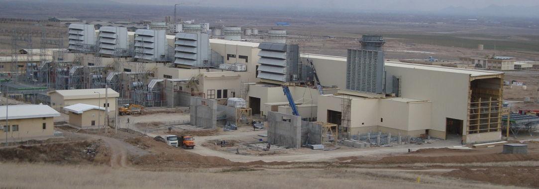 عملیات ساختمانی توسعه نیروگاه گازی ارومیه