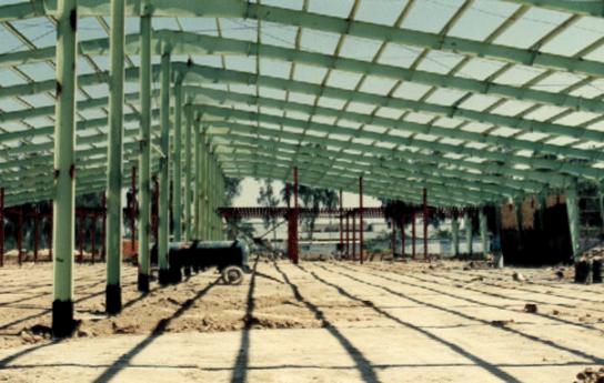 احداث ساختمانی اصلی نیروگاه حرارتی رامین اهواز