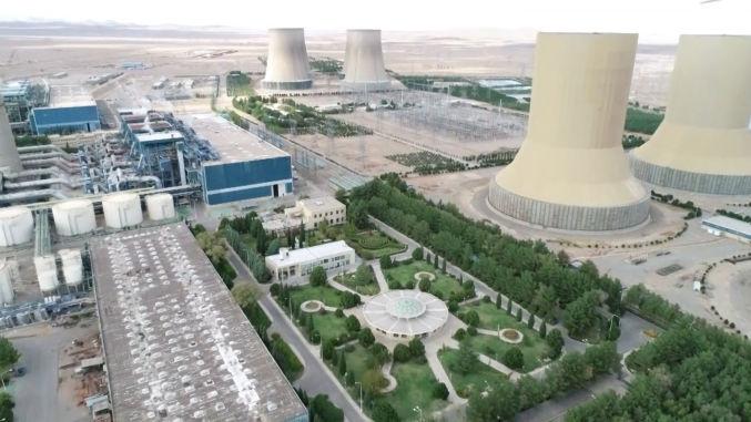 عملیات ساختمانی نیروگاه حرارتی شهید منتظری اصفهان